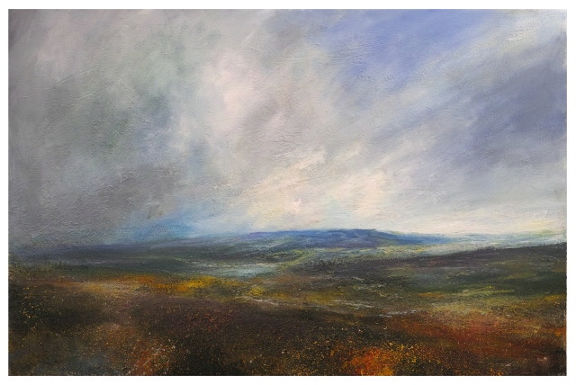 150x100cm Clearing Sky Towards Kinder Scout From Burbage Moor £2750