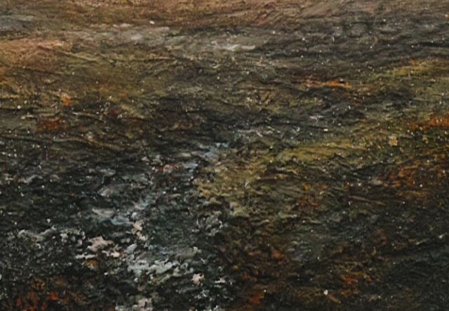 Dusk Across Burbage Moor 120x80cm Mixed Media on Canvasm