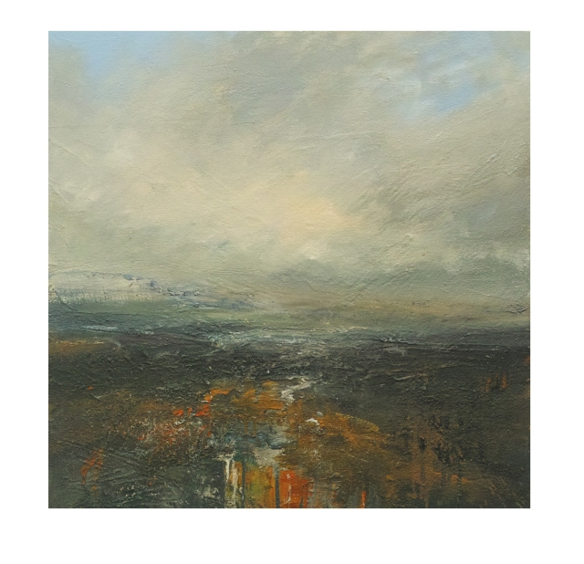 Fading Light Burbage Moor 60x60cm Mixed Media on Canvas