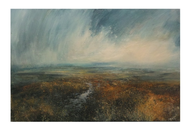 Footpath Aross Alport Moor 150x100cm Mixed Media on Canvas