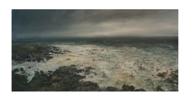 120x60cm Mixed Media on Canvas Westerly Gale Clodgy Point £1550