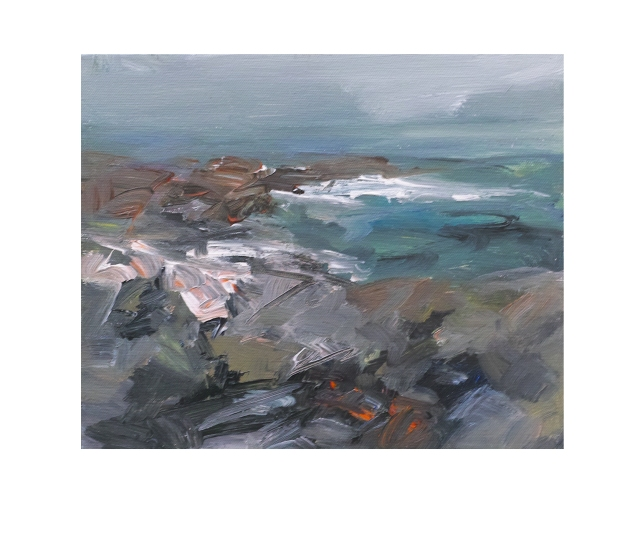 30x25cm Acrylic on Canvas Approaching Storm Clodgy Point £300