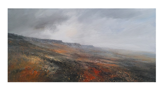 100cm-x-50cm-mixed-media-on-canvas-approaching-cloud-stanage-edge-1200