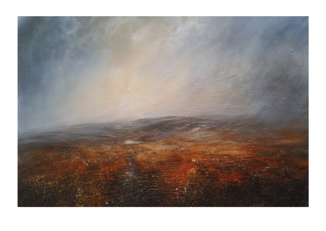 150cm x 100cm Canvas Quiet Evening Kinder Scout Peak District Mixed Media £2750.JPG