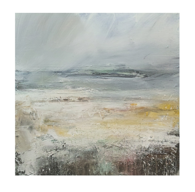50cm x 50cm Rain Approaching the Island Porthmeor Beach £750