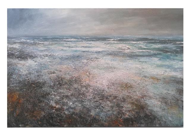 150cm x 100cm Incoming Spring Tide Porthmeor Beach, St Ives, Cornwall.JPG