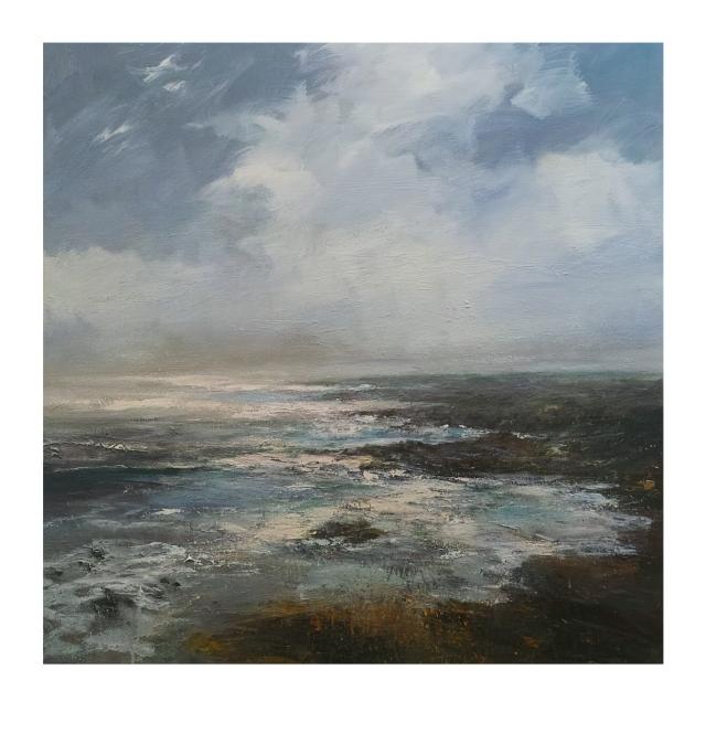 90cm x 90cm Strong Westerly Zennor Coastline £1695.JPG