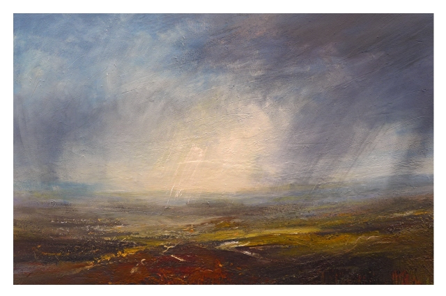 Evening Shower Over the Derwent Valle 100x150nv