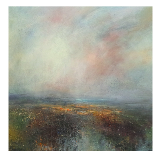 100cm x 100cm Dusk, Ladybower Reservoir, Peak District. £1450m