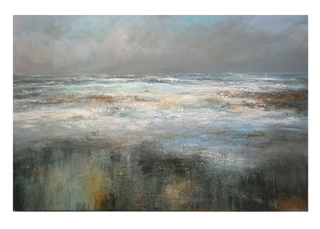 150cm x100cm Twilght North Westerly Porthmeor Beach St Ives £2750.JPG