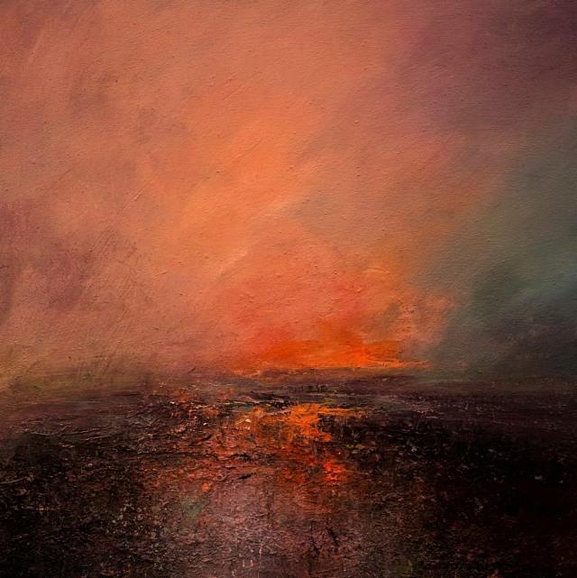 60cm x 60cm Sun Set Derwent Reservoir £725