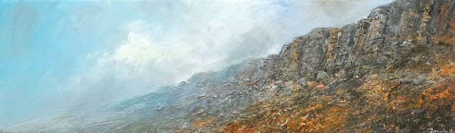 100x30cm Clearing Morning Mist Stanage Edge