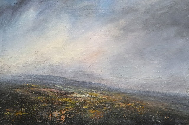120x80cm Clearing Rain over High Peaks Peak District £1960