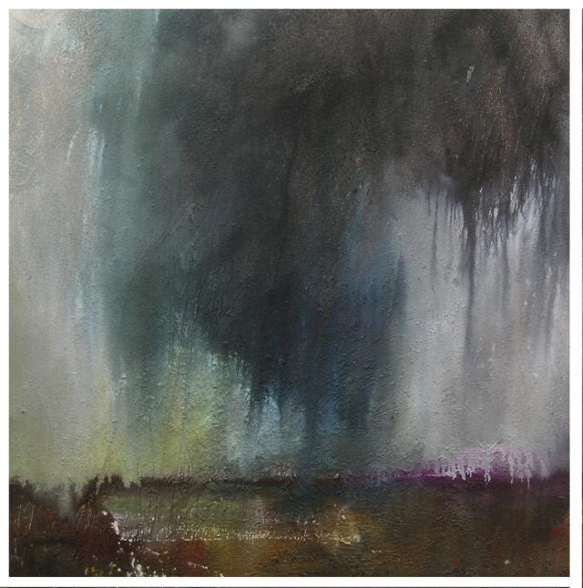 Heavy Rain Kinder Plateau No 1 100x100cm